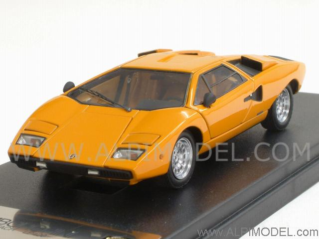 kyosho lamborghini countach lp400 orange with opening parts designed by mr collection 1 43. Black Bedroom Furniture Sets. Home Design Ideas