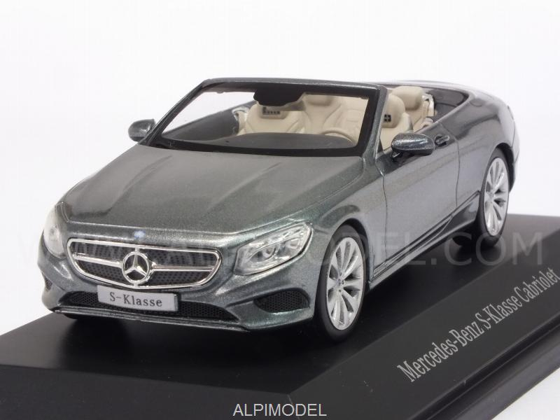 Mercedes S-Class Cabriolet 2015 (Selenite Grey) Mercedes Promo by kyosho