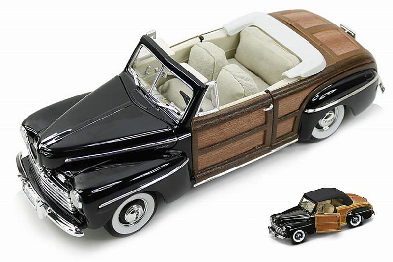 Ford Sportsman Convertible 1946 Black/woody by lucky-die-cast