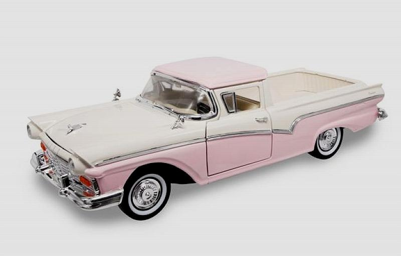 Ford Ranchero 1957 White/pink by lucky-die-cast