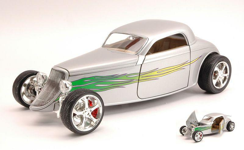 Ford Coupe  1933 Silver by lucky-die-cast