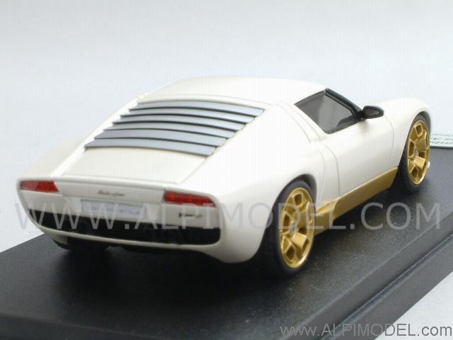 Looksmart Lamborghini Miura Concept Los Angeles Motorshow 2006 Metallic Ballon White Limited