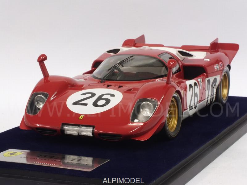 Ferrari 512S #26 24h Daytona 1970 Vaccarella - Giunti  (with display case) by looksmart