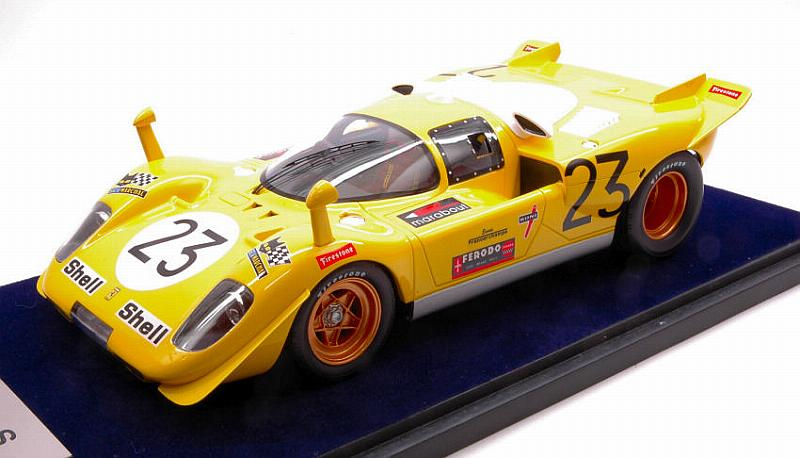 Ferrari 512S #23 1000 Km Spa 1970 Bell - De Fierlant (with display case) by looksmart