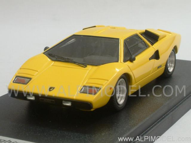 looksmart lamborghini countach lp400 1978 yellow 1 43 scale model. Black Bedroom Furniture Sets. Home Design Ideas