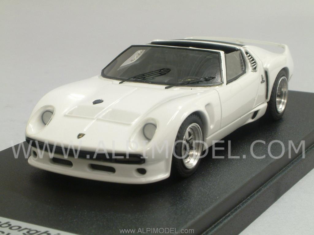 Looksmart Ls363 Lamborghini Miura Svj Spider 1966 White 1 43