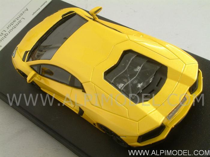 Looksmart Ls384b Lamborghini Aventador Lp700 4 Orion Yellow 1 43