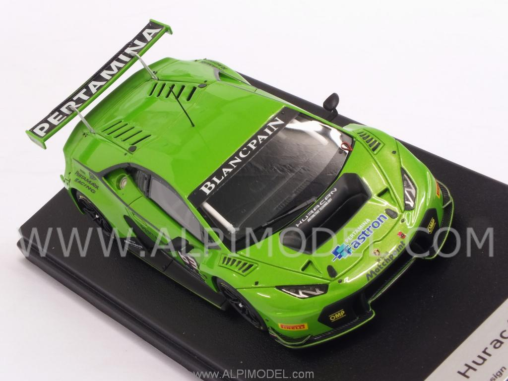 looksmart lamborghini huracan gt3 2015 metallic green 1 43 scale model. Black Bedroom Furniture Sets. Home Design Ideas