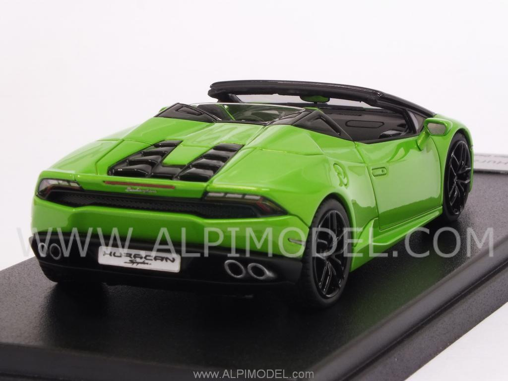 looksmart lamborghini huracan lp610 4 spyder 2015 verde mantis 1 43 scale model. Black Bedroom Furniture Sets. Home Design Ideas