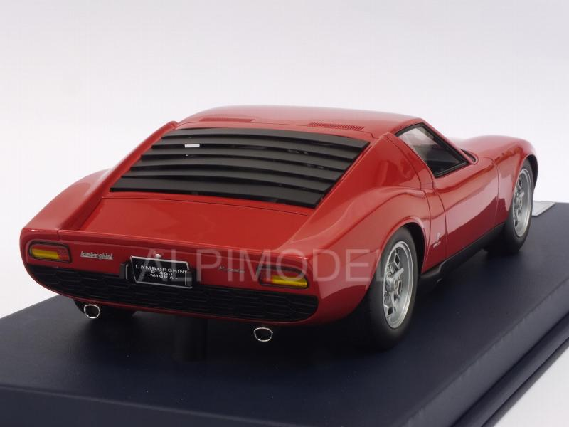 Lamborghini Miura P400 Paris Motorshow 1966 (Red) with display case - looksmart