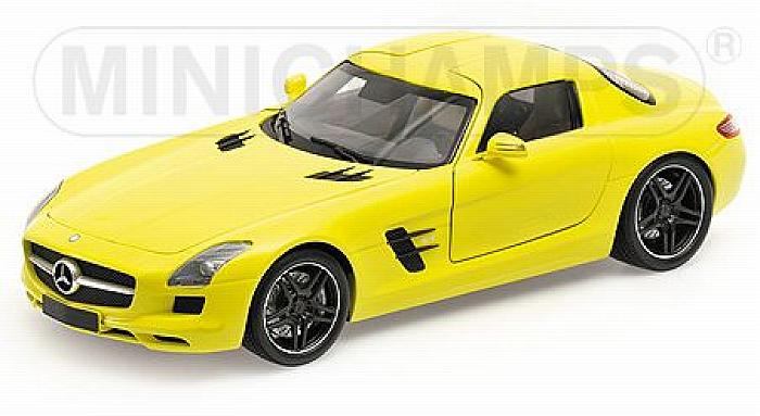 Mercedes SLS AMG 2010 Yellow by minichamps