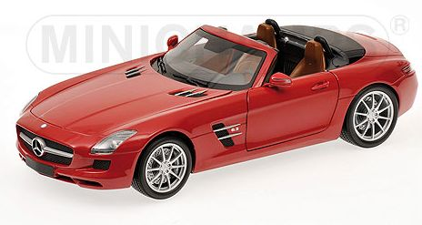 Mercedes SLS AMG Roadster 2011 Red Metallic by minichamps