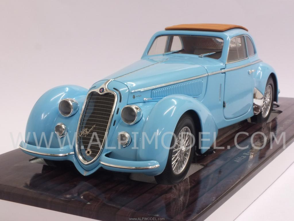 Alfa Romeo 8C 2900 B Lungo 1938  (Light Blue) by minichamps