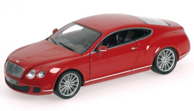 Bentley Continental GT 2008 Red by minichamps
