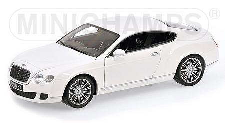 Bentley Continental GT 2008 White by minichamps
