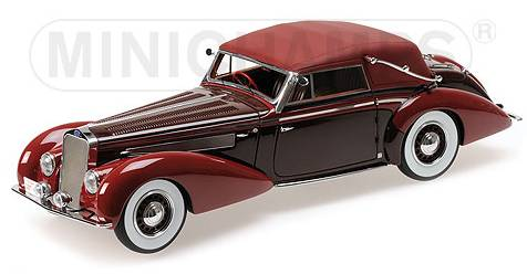 Delage D8-120 Cabriolet 1939 (Red/Dark Red) (resin) by minichamps