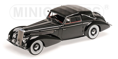 Delage D8-120 Cabriolet 1939 (Black) by minichamps