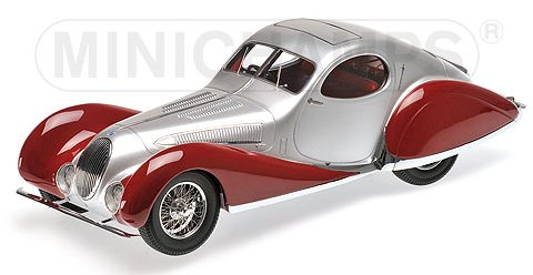 Talbot Lago T150-C-SS Coupe 1937 (Silver/Red) by minichamps