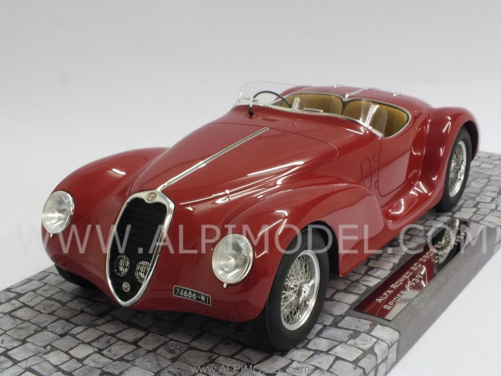Alfa Romeo 6C 2500 SS Corsa Spider 1939 (Red) (resin) by minichamps