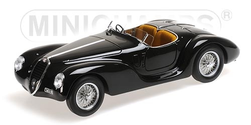 Alfa Romeo 6C 2500 SS Corsa Spider 1939 (Black) by minichamps