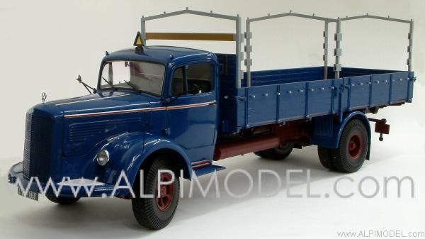 Minichamps 109031020 Mercedes L6600 Canvas Truck Blue Big 1 18