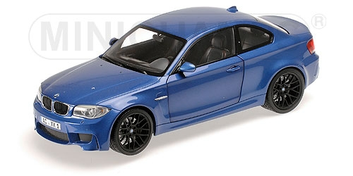 BMW 1er M Coupe 2011 (Blue Metallic) by minichamps