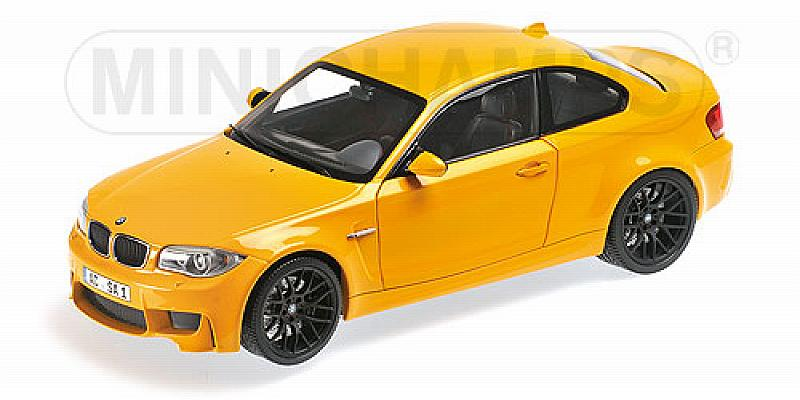 BMW 1er M Coupe 2011 (Yellow) by minichamps