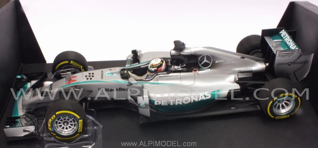 Mercedes W05 AMG Winner GP Abu Dhabi 2014 World Champion Lewis Hamilton - minichamps