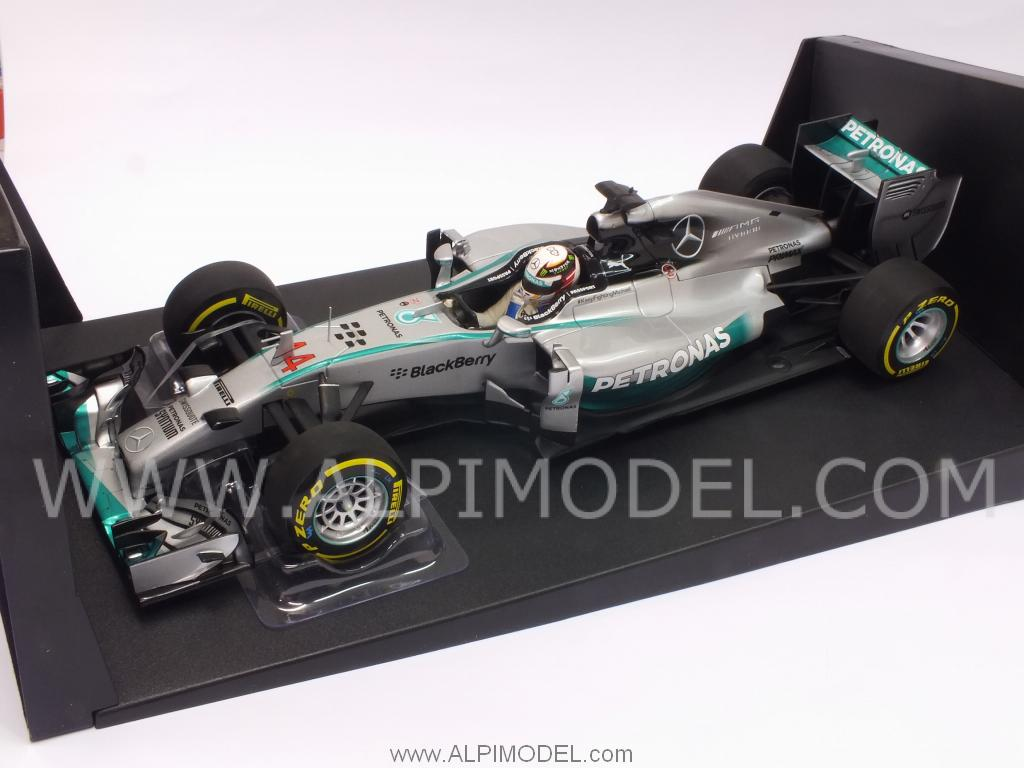 Mercedes W05 AMG Winner GP Abu Dhabi 2014 World Champion Lewis Hamilton by minichamps