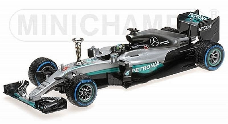 Mercedes AMG W07 Hybrid Demontration Run 2016 World Champion Nico Rosberg by minichamps