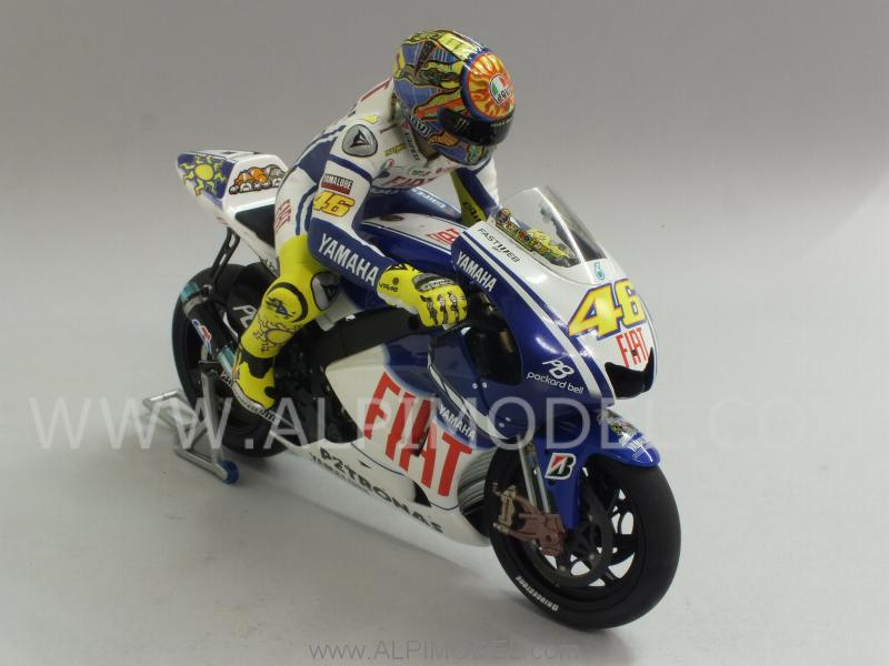 Yamaha YZR-M1 GP Valencia 2009 World Champion Valentino Rossi  (with riding figure) - minichamps