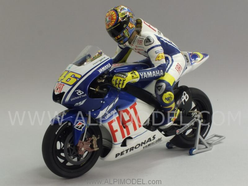 Yamaha YZR-M1 GP Valencia 2009 World Champion Valentino Rossi  (with riding figure) by minichamps