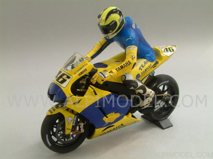 Yamaha YZR-M1 Winner Sachsenring Germany 2006 Dirty Version +FIGURE VALENTINO ROSSI LIM.ED.672 pcs. - minichamps