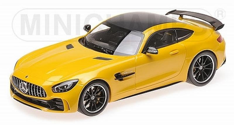 Mercedes AMG GT-R 2017 (Yellow) by minichamps