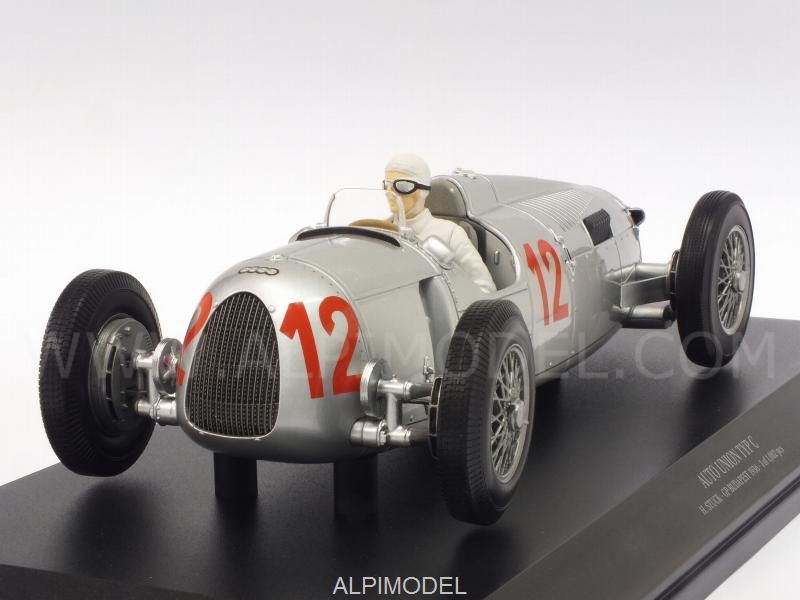 Auto Union Typ C #12 GP Budapest 1936 Hans Stuck by minichamps