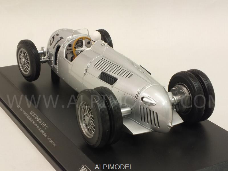 Auto Union Typ C #57 Winner Shelsley Walsh Hillclimb 1936 Hans Stuck - minichamps