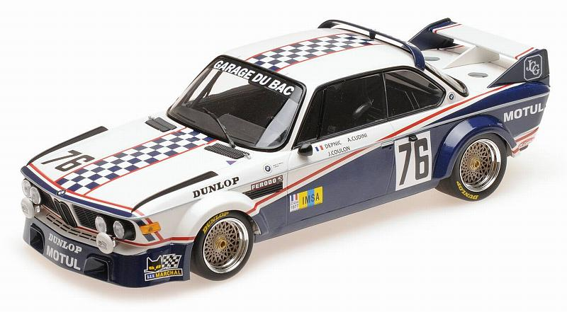 BMW 3.0 CSL Garage Du Bac Le Mans 1977 Depnic Coulon by minichamps