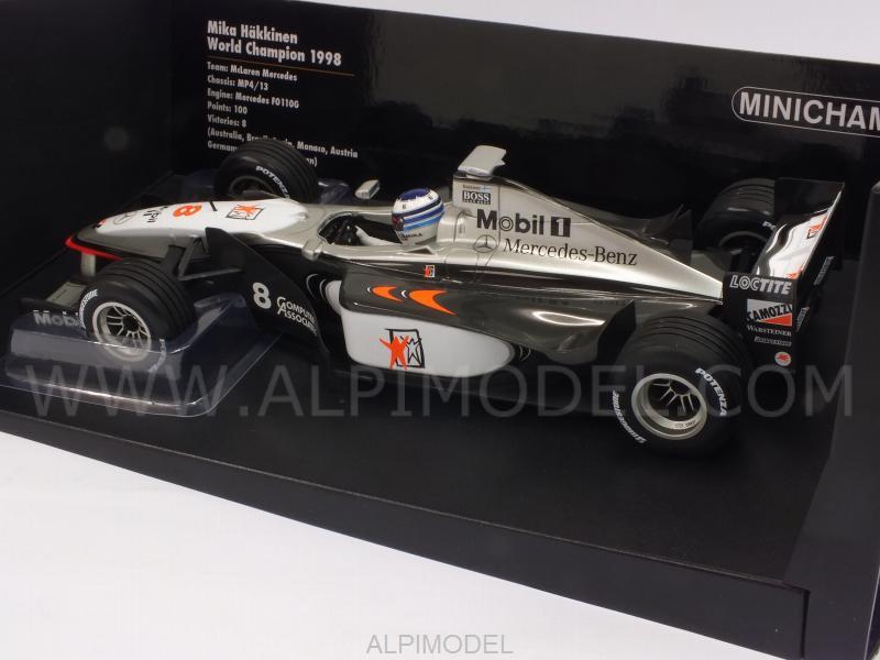 1:18 Minichamps McLaren Mercedes MP4-13 World Champion Häkkinen 1998