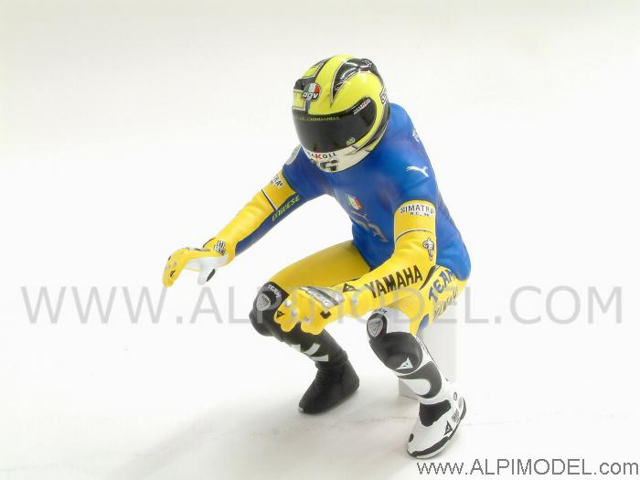 Valentino Rossi Riding Figure (Materazzi shirt) Winner GP Sachsenring 2006 by minichamps