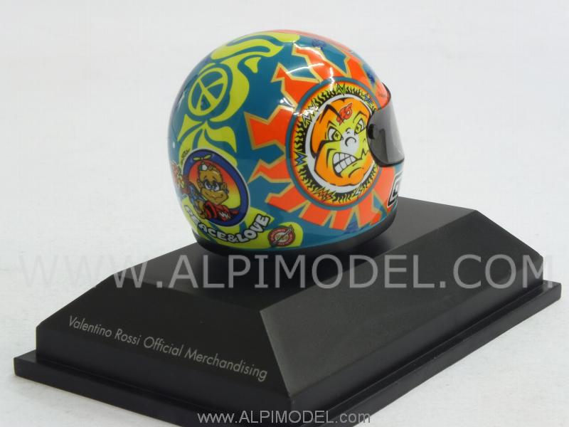 Helmet AGV GP 250 Mugello World Champion 1999 Valentino Rossi  (1/8 scale - 3cm) - minichamps
