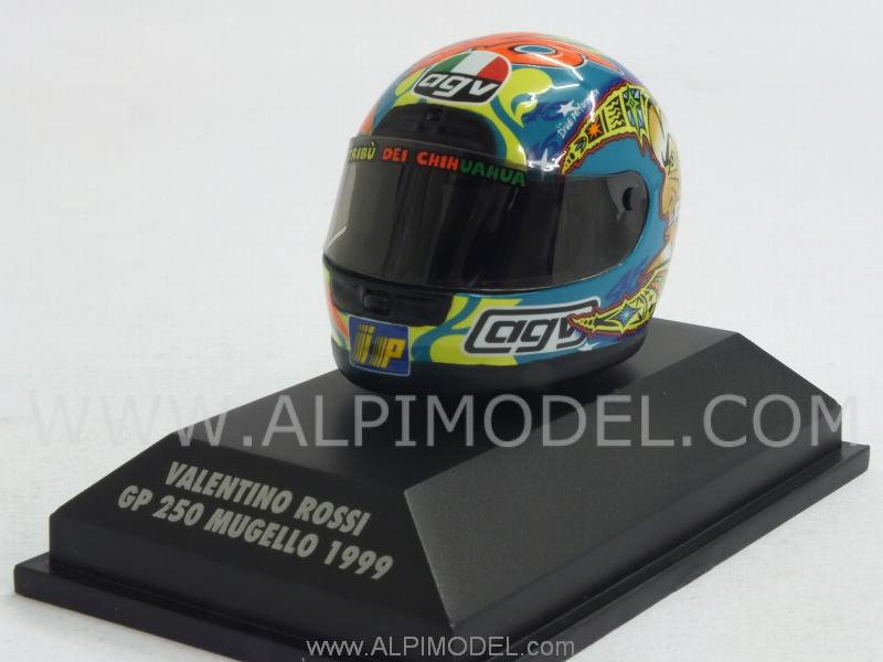 Helmet AGV GP 250 Mugello World Champion 1999 Valentino Rossi  (1/8 scale - 3cm) by minichamps