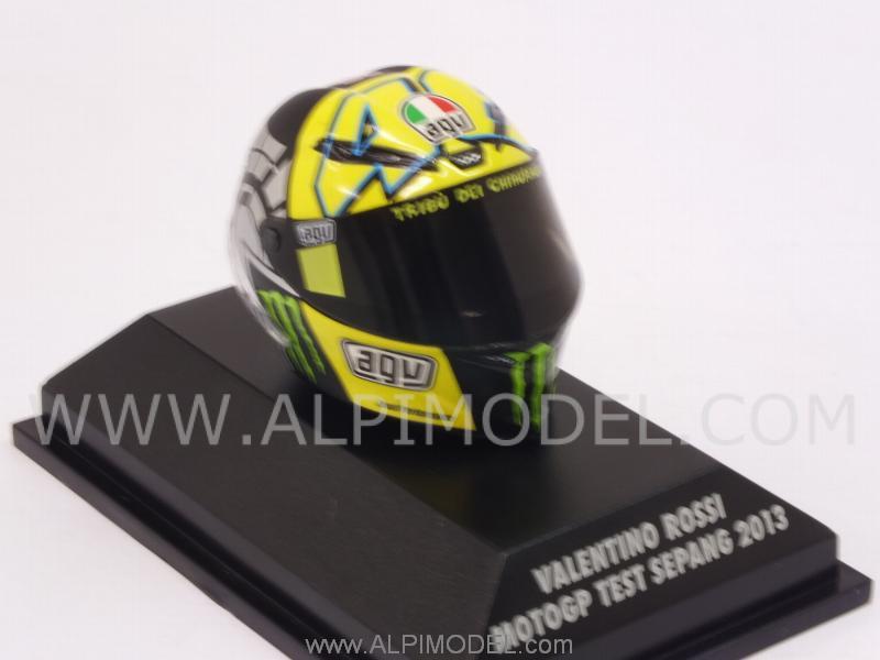 AGV HELMET V.ROSSI TEST SEPANG MOTO GP  2013 1//8 398130076 MINICHAMPS