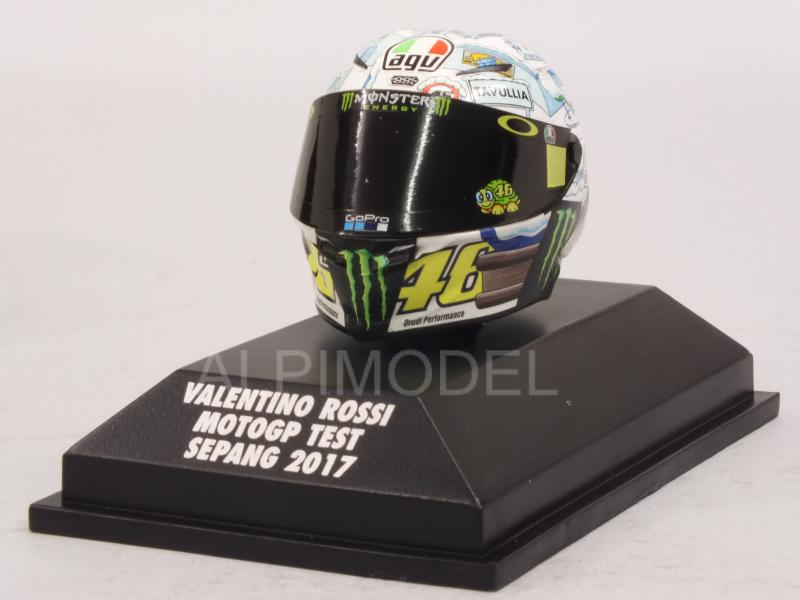 Helmet AGV MotoGP Test Sepang 2017 Valentino Rossi  (1/8 scale - 3cm) by minichamps