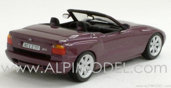 Minichamps 400020101 Bmw Z1 1987 Magic Violet With Engine Details 1 43
