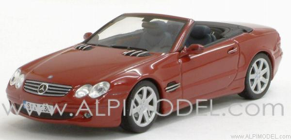 Mercedes SL 2001 Red Metallic by minichamps