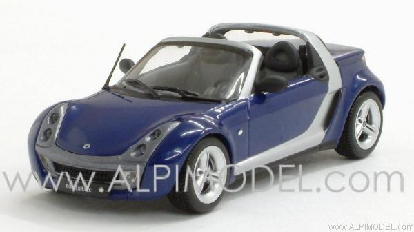 Smart Roadster Cabrio 2002 Blue Metallic 1:43 Model MINICHAMPS
