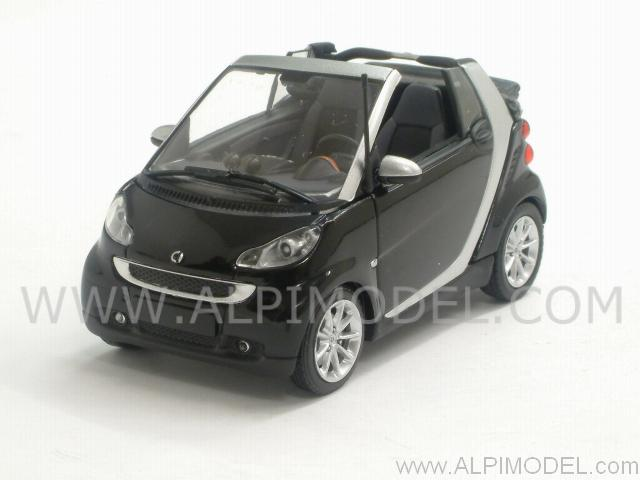 Smart Fortwo Cabriolet 2007 (Black/Silver) by minichamps