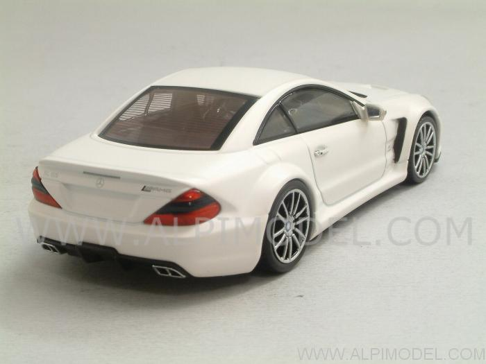 Minichamps Mercedes Sl65 Amg Black Series 2009 Matt White 1 43 Scale Model