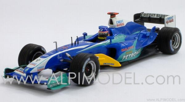 Sauber Petronas Showcar 2005 Jacques Villeneuve by minichamps