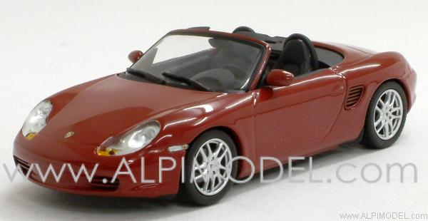 Porsche Boxster 2002 (Orient Red Metallic) by minichamps